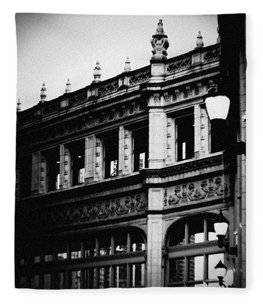 Wrigley Building Square Fleece Blanket