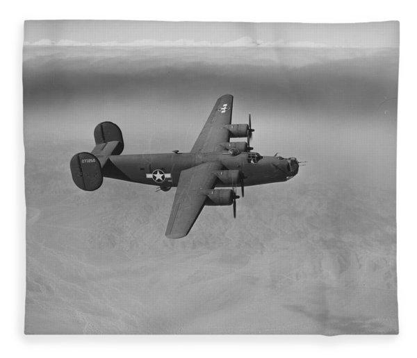 Wwii Us Aircraft In Flight Fleece Blanket