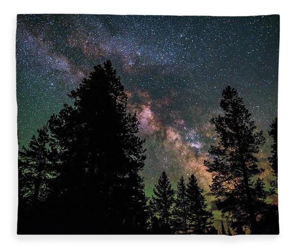 Wyoming Milky Way Fleece Blanket