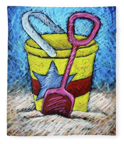 Yellow Bucket Fleece Blanket