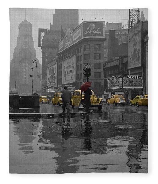 Yellow Cabs New York Fleece Blanket