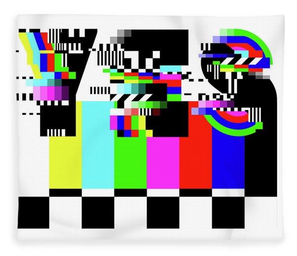 Fleece Blanket featuring the digital art YES by Bee-Bee Deigner