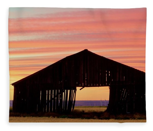 Yesterday And Today At Sunset Fleece Blanket