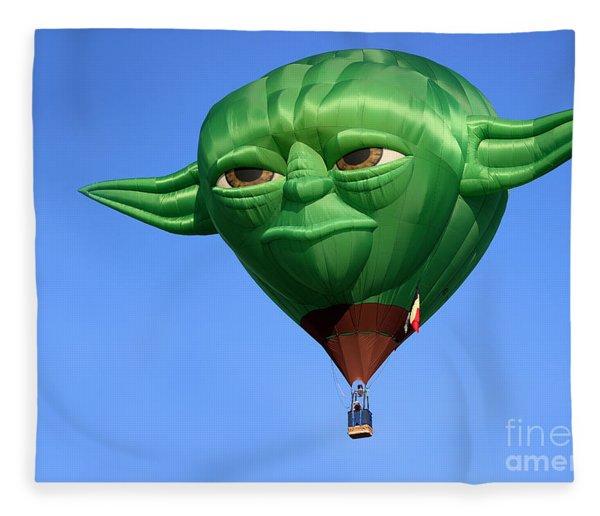 Yoda In The Sky Fleece Blanket
