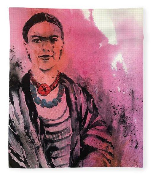Young Frida Fleece Blanket