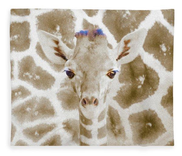 Young Giraffe Fleece Blanket