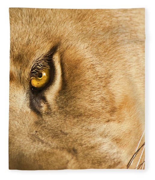 Fleece Blanket featuring the photograph Your Lion Eye by Carolyn Marshall