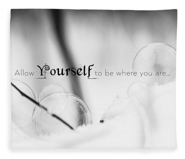 Yourself Fleece Blanket