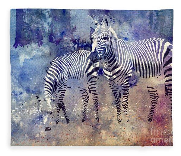 Zebra Paradise Fleece Blanket