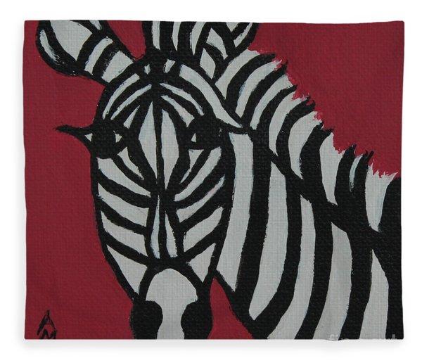 Zena Zebra Fleece Blanket