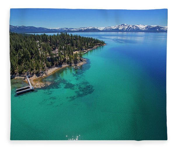 Zephyr Point Aerial Fleece Blanket