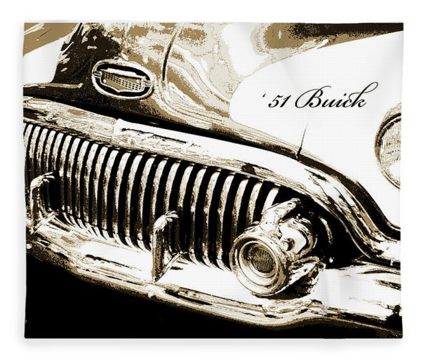 1951 Buick Super, Digital Art Fleece Blanket