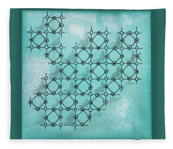 Abstract Biological Illustration Fleece Blanket