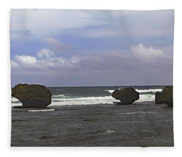 Bathsheba Beach Fleece Blanket