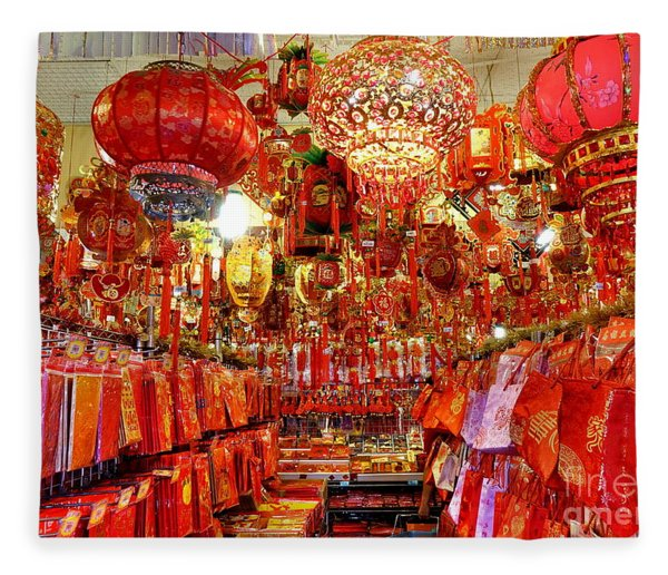Chinese New Years Decorations For 2019 Fleece Blanket