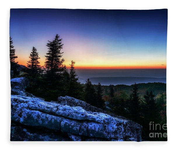 Dawn At Bear Rocks Preserve Fleece Blanket