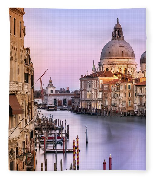 Evening Light In Venice Fleece Blanket