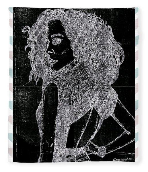 Fashion Woman Chalk Fleece Blanket