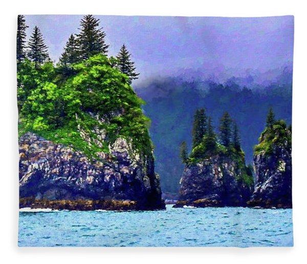 Kenai Fjords Alaska Fleece Blanket
