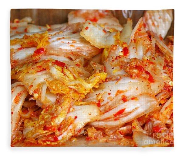 Korean Style Fermented Spicy Cabbage Fleece Blanket