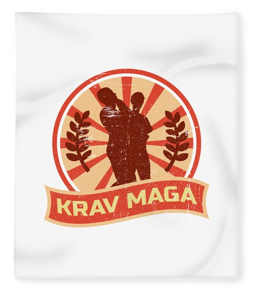 Krav Maga Propaganda Martial Arts Self Defense Fleece Blanket