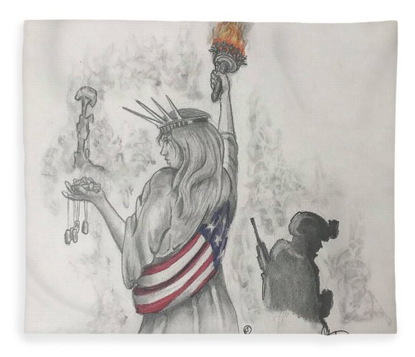 Liberty And Justice For All Fleece Blanket