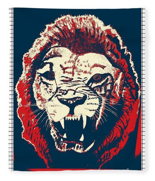 Roaring Lion Red Fleece Blanket