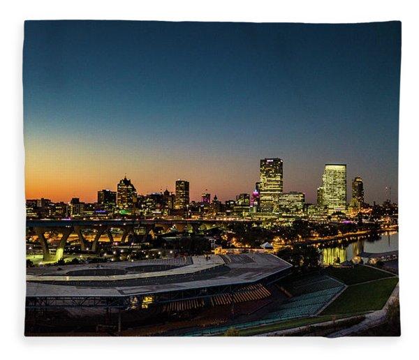 Summerfest Sunset Fleece Blanket