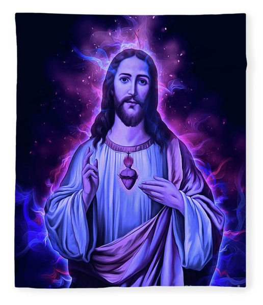 The Lord Is With You Fleece Blanket