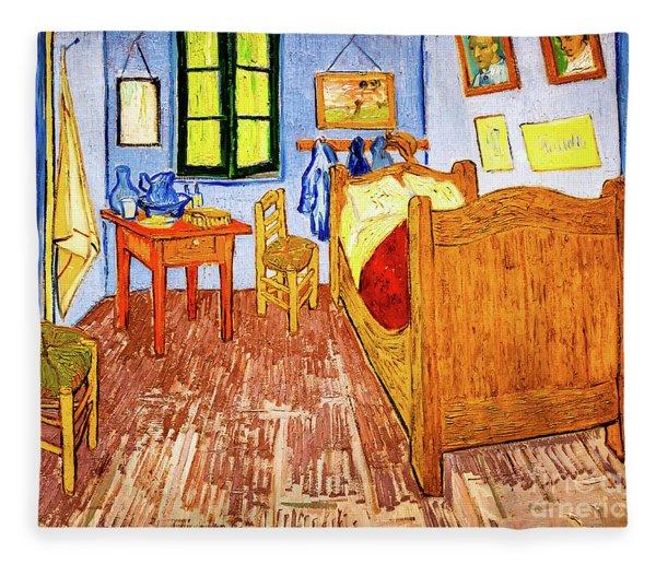 Van Gogh's Bedroom Fleece Blanket