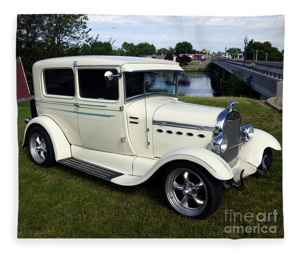 1929 Ford Model A Coupe Fleece Blanket