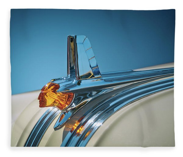 1953 Pontiac Hood Ornament Fleece Blanket