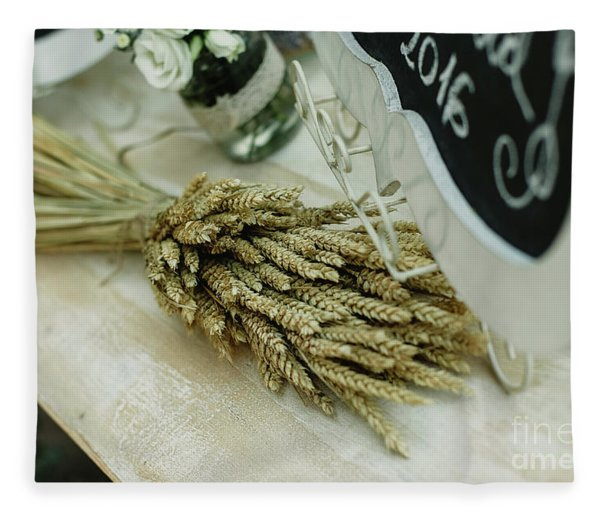 Floral Decorations In The Spaces Of A Wedding Restaurant. Fleece Blanket
