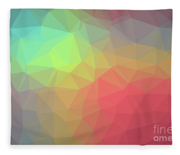 Gradient Background With Mosaic Shape Of Triangular And Square C Fleece Blanket