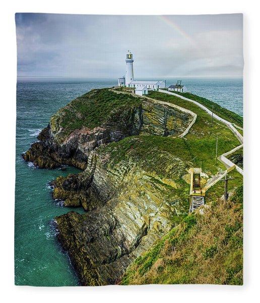 South Stack Lighthouse Fleece Blanket