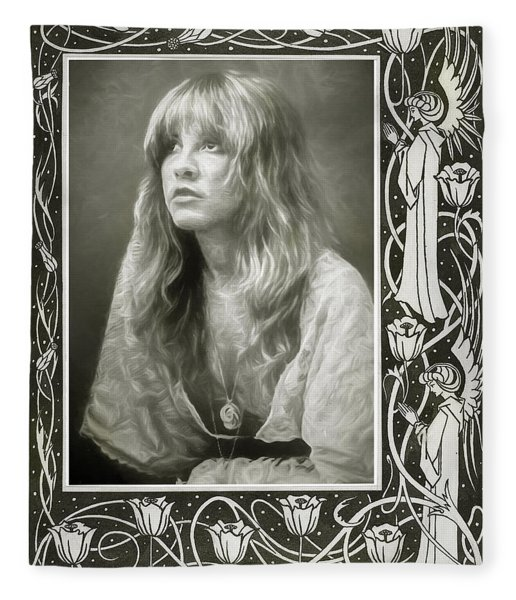 Stevie Nicks Fleetwood Mac Fleece Blanket