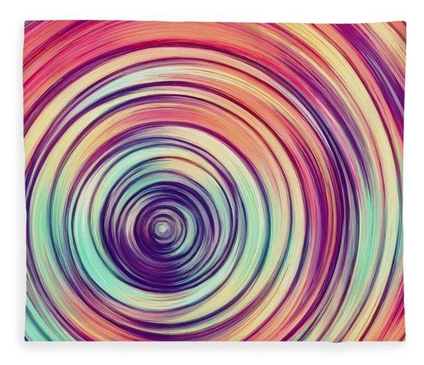 Fleece Blanket featuring the digital art 2019.6 by Matt Lindley