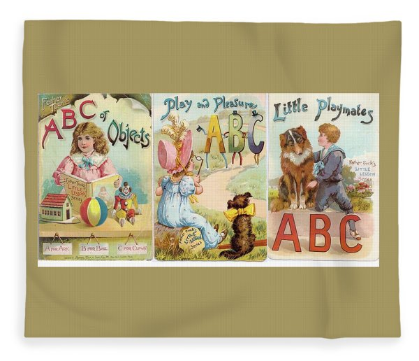 3 Abc Objects And Little Playthings Fleece Blanket