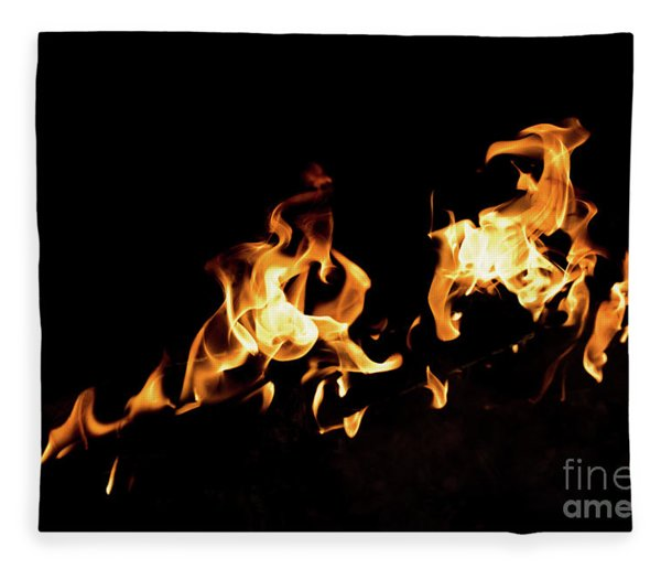 Flames In The Fire Of A Red And Yellow Barbecue. Fleece Blanket