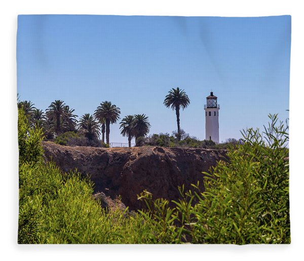 Point Vicente Lighthouse Fleece Blanket