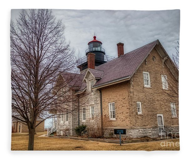 30 Mile Lighthouse  Fleece Blanket