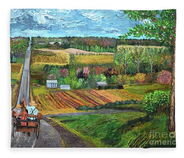 6n Between Waterford And Edinboro Pennsylvania Fleece Blanket