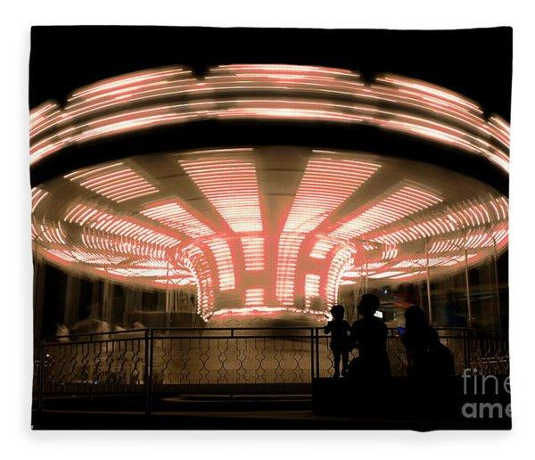 A Carousel By Night Fleece Blanket