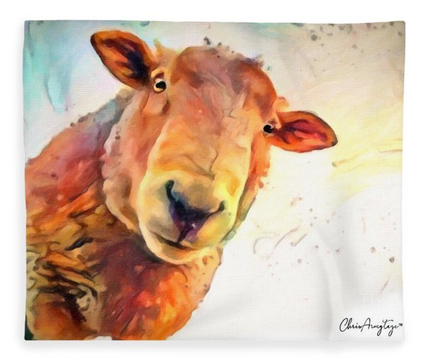 A Curious Sheep Called Shawn Fleece Blanket