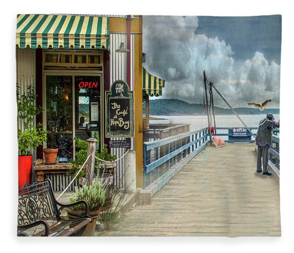A Day To Fish Fleece Blanket