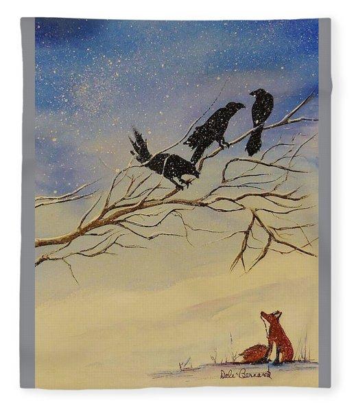 A Fox And His Cronies Fleece Blanket