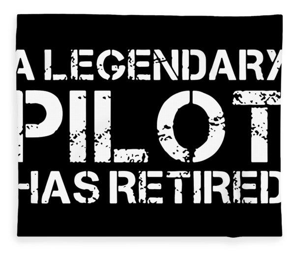 A Legendary Pilot Has Retired Veteran Fleece Blanket