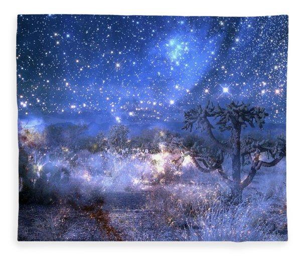 A Starry Night In The Desert Fleece Blanket