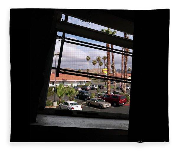 Through A Tilted Window In L. A. Fleece Blanket