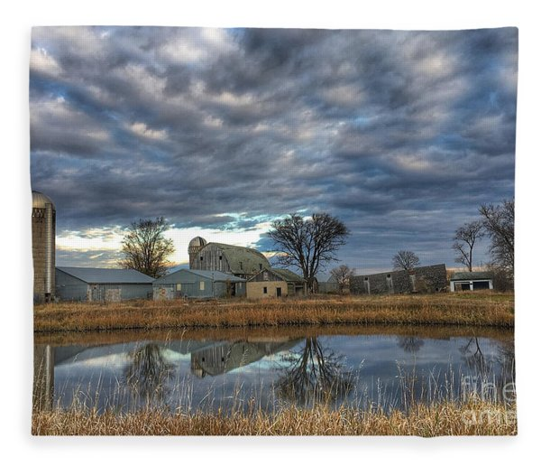 Abandoned Reflections Fleece Blanket